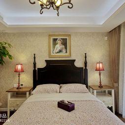 别墅经典美式卧室壁纸装修效果图