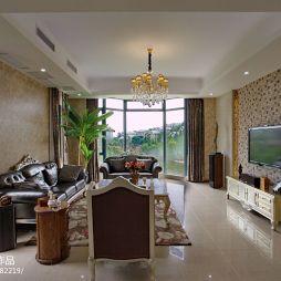 别墅混搭风格客厅吊顶灯设计图片