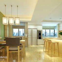 别墅简约现代风格家庭式餐厅吊顶设计效果图