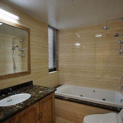 现代简约新中式卫生间浴缸效果图
