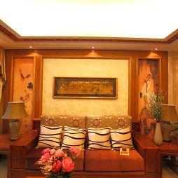 2017年清远天湖郦都样板房红木家具客厅沙发效果图