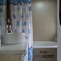混搭风卫生间浴缸效果图