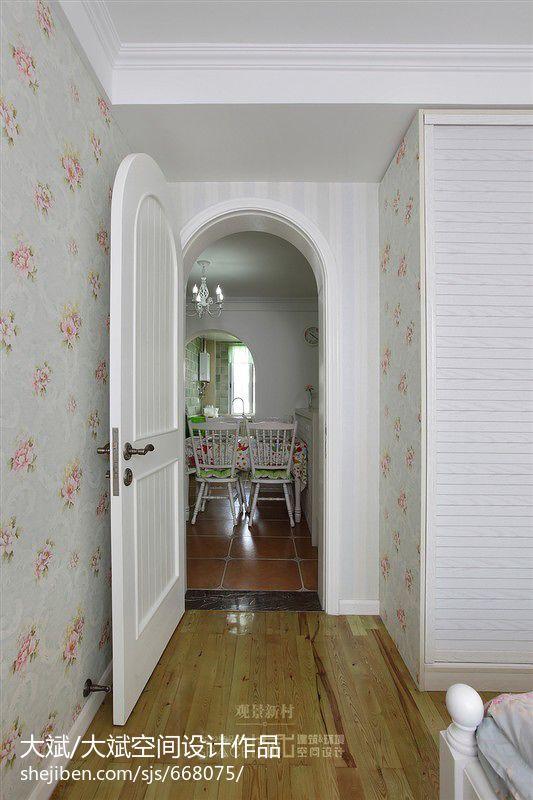 欧式新古典风格家具_田园卧室过道吊顶装修效果图 – 设计本装修效果图