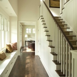 住宅楼梯木地板脚线装饰图片