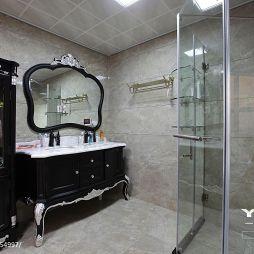 花都艺墅简欧风格卫生间淋浴房效果图