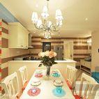 梦幻童话现代厨房餐厅吧台隔断背景墙装修效果图