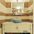 现代风卫生间洗手台设计效果图