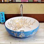 现代风卫生间洗手盆装修效果图