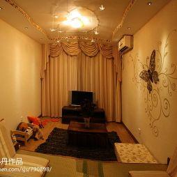 交换空间现代风格细长形小客厅做榻榻米设计图片