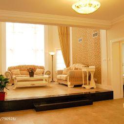 四居室跃层欧式客厅地台设计效果图