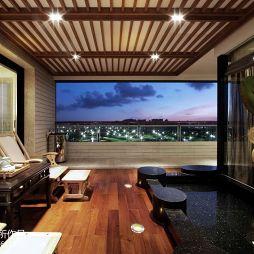 中式家装阳台吊顶装修