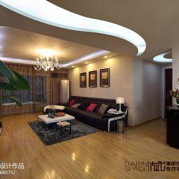 90平米现代风格客厅吊顶装修效果图