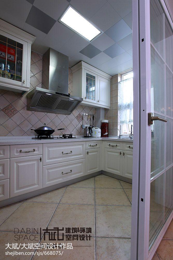 生活资讯_地中海风格 厨房推拉门效果图 – 设计本装修效果图