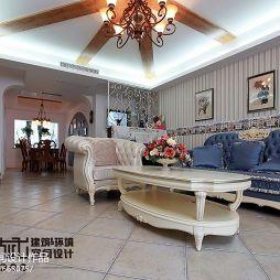 120平米家装地中海风格客厅装修效果图 简约