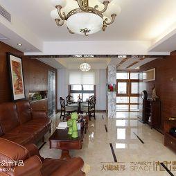 家装中式风格客厅吊顶装修效果图