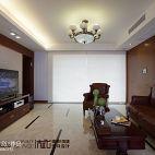 三居室中式客厅落地窗地板砖设计图片