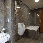 新中式三居室卫生间瓷砖效果图