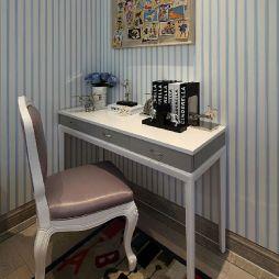 简美式儿童书房书桌设计装修效果图