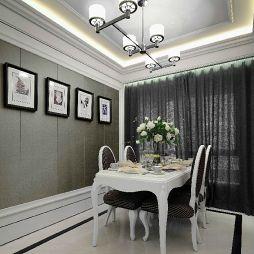 样板房简欧式餐厅石膏板吊顶灯装修效果图