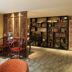 很牛的混搭和风格多元化书房隔断屏风装修效果图