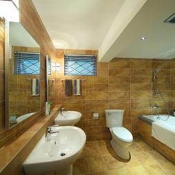 混搭风格卫生间浴缸效果图