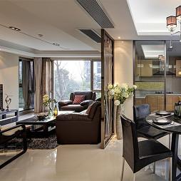 现代平层家装客厅简单电视墙装修效果图