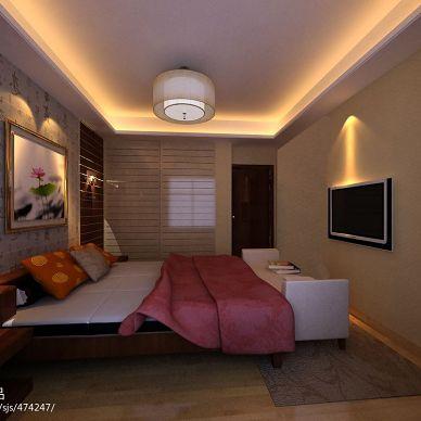 御景前城东南亚卧室装修设计效果图