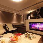 三居室现代白色调客厅影视墙效果图