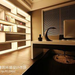 现代书房转角书柜设计图