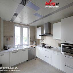 汗府雅苑现代简约风厨房整体橱柜效果图