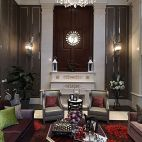 欧式风格别墅室内客厅装修效果图