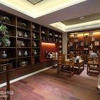 1313软装配饰设计中洲中央公园英式别墅书房会客厅展示柜装修效果图