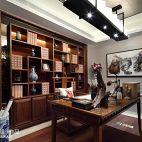 书房实木家用书柜效果图