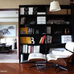 現代家裝轉角書柜圖片
