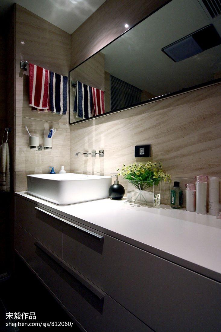 生活资讯_卫生间洗手台设计效果图 – 设计本装修效果图