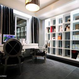 温州南塘住宅小区新古典与后现代之间书房壁柜装修效果图