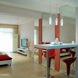 锦江郦城20平米家装客厅吧台设计图