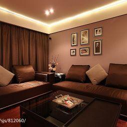 家装小客厅17平米简约沙发背景照片墙设计图