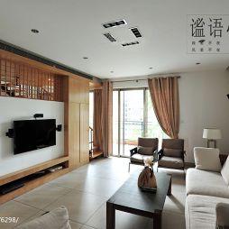 新中式客厅隔断设计图片