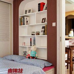 田园10平米两人儿童房床头墙面装修效果图