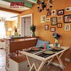 小户型家庭卡座餐厅照片背景墙