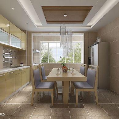 (灵感)现代时尚厨房带阳台装修设计效果图
