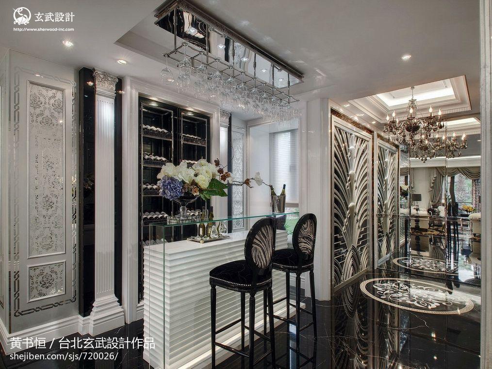 成都室内装修效果图_新古典吧台酒柜设计装修效果图 – 设计本装修效果图