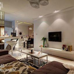 20平米家装客厅电视墙吧台设计图片