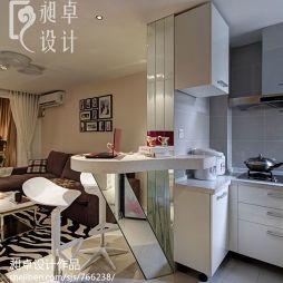 家装现代小户型厨房吧台隔断装修效果图