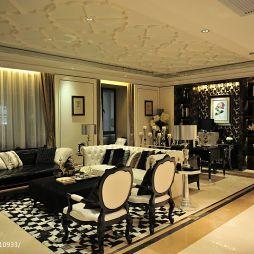 新古典风格家装客厅石膏吊顶设计