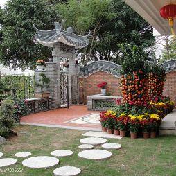 中式花园别墅设计效果图片