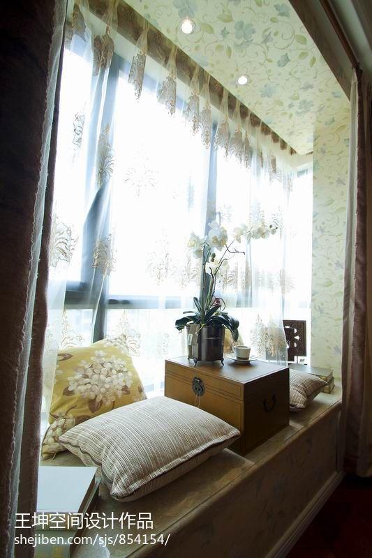 下载中心_美式卧室休闲飘窗窗台装修效果图 – 设计本装修效果图