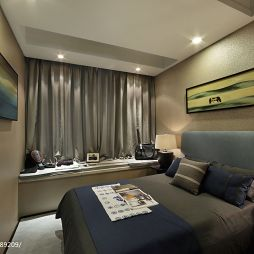 样板房中式风格挂画室内阳台卧室设计