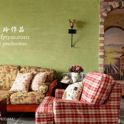 家装混搭方砖隔断墙面漆背景客厅设计图片